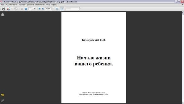 Вид страницы постранично Adobe Reader