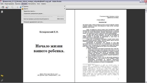 Параметры защиты Adobe Reader