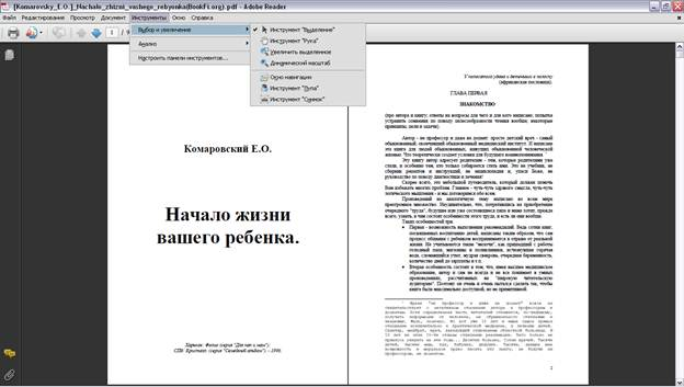 возможности, которые облегчают работу с текстом Adobe Reader