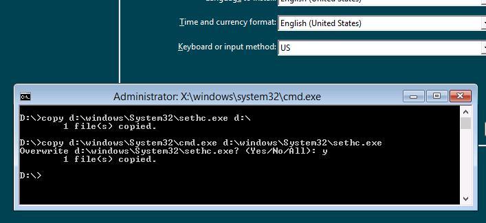 Сброс пароля Windows 8 без использования стороннего программного обеспечения