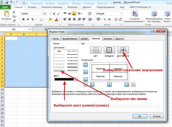 формат ячеек таблиц в Excel
